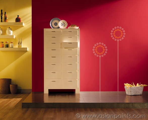 Lighting Up Your Kitchen with Exciting Wall Colours